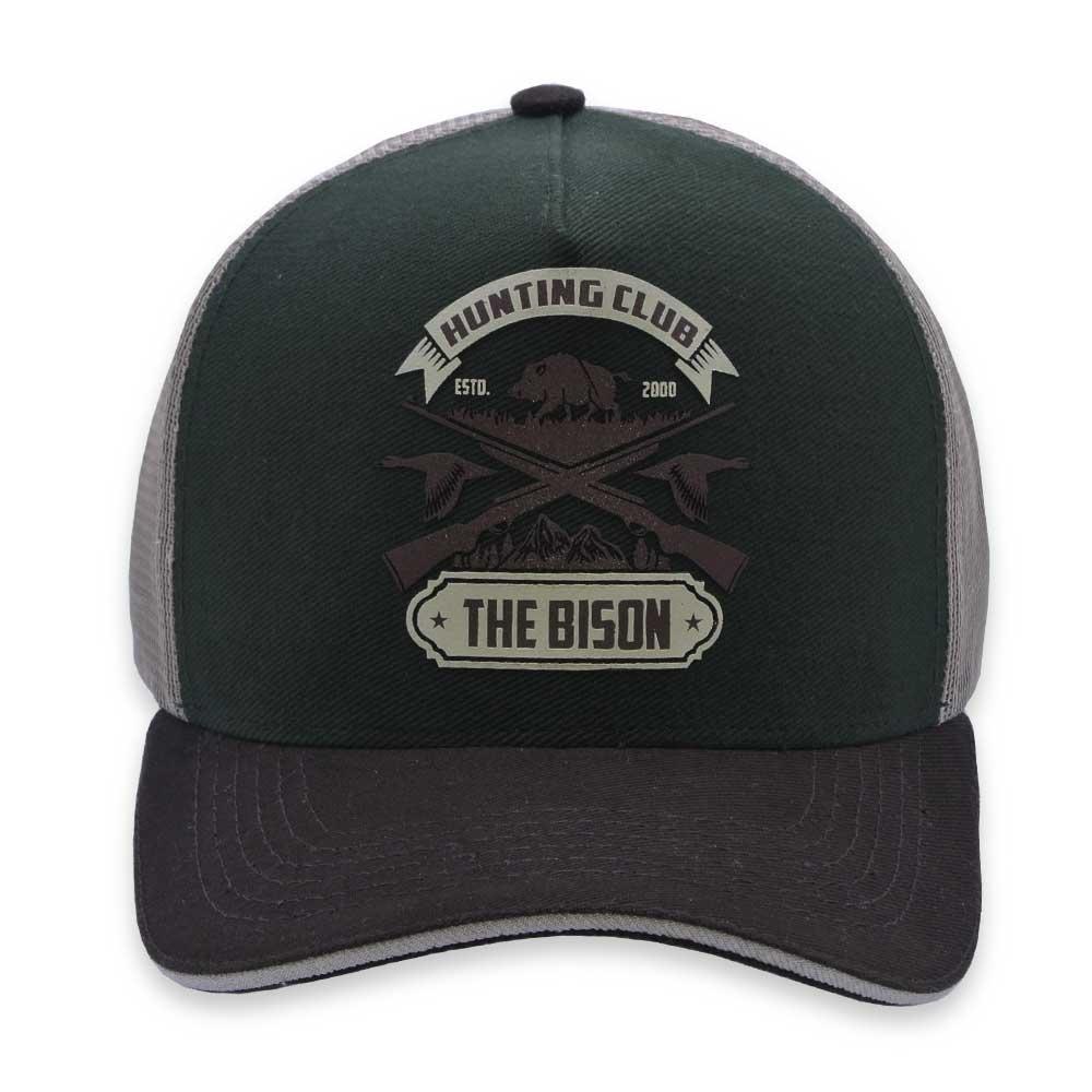 Boné Trucker Aba Curva D Fato Hunting Club The Bison