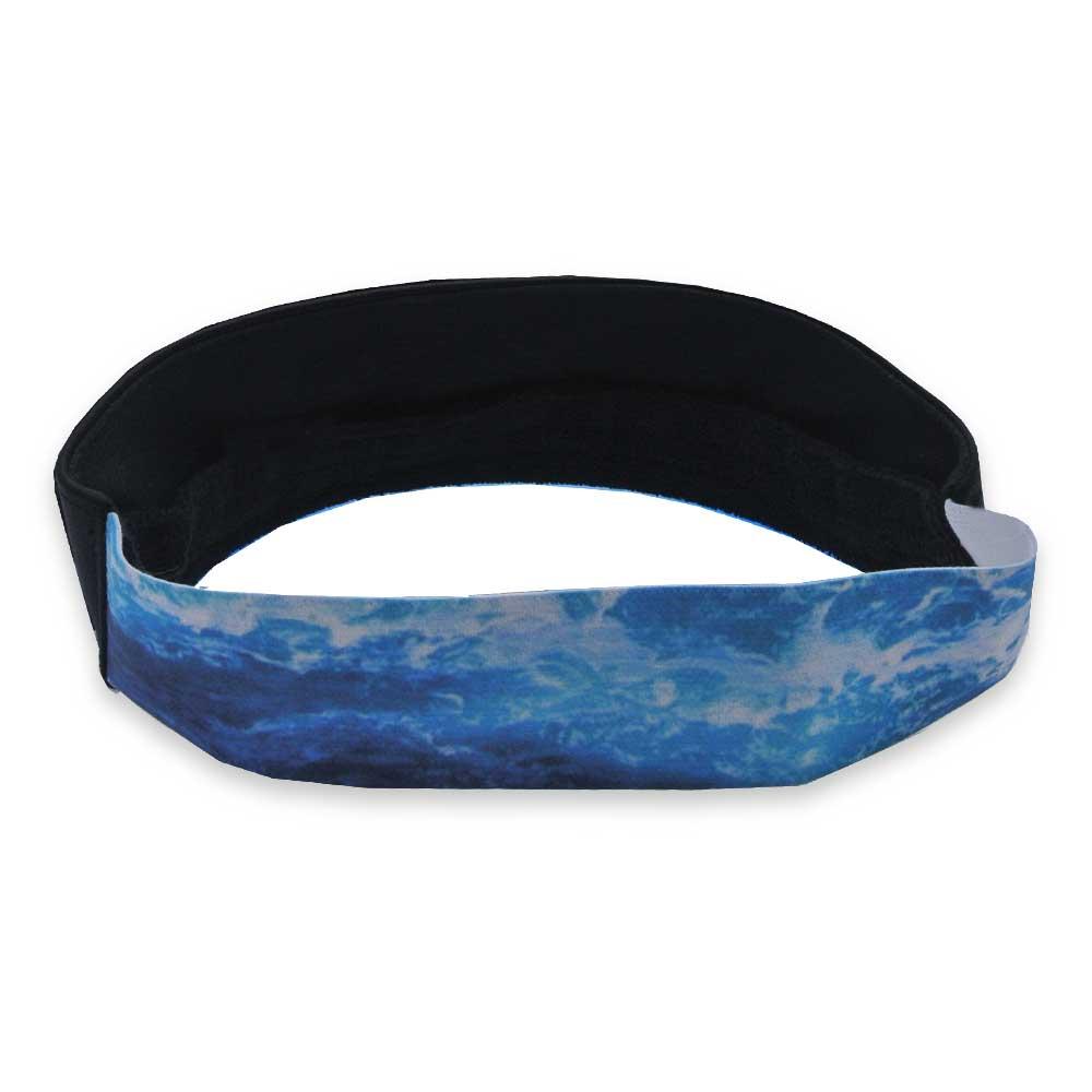 Viseira Anth Co Bora Bora Aba Silicone Azul