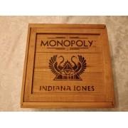 Jogo Monopoly Indiana Jones Caixa De Madeira Raro Completo