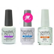 Kit Gelish ( Ph Bond + Top It Off + Foundation ) - Esmaltação em Gel Grande