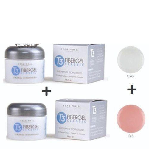 Gel T3 Pink & Clear ( 2un ) 28g-cuccio