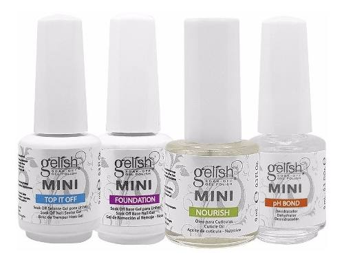 Kit Mini Gelish Harmony Blindagem Cristal 9ml