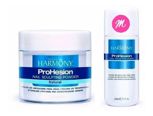 Kit Harmony Monomer 240ml + Pó Acrílico Natural 28g