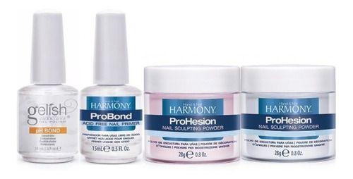Phbond + Probond 15ml + Pó 28g Clear + Nude Harmony