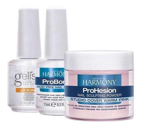 Phbond + Probond 15ml + Pó Acrilico 105g Harmony Tones