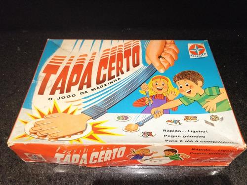 Brinquedo Jogo Estrela Tapa Certo 1 Edição Anos 70 Completo