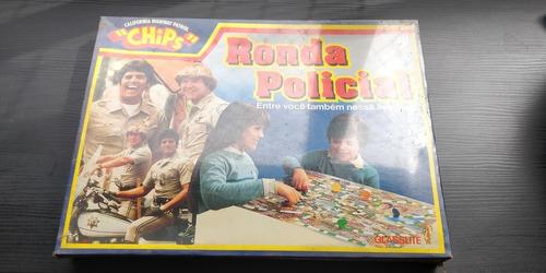 Brinquedo Jogo Tabuleiro Ronda Policial Lacrado Glasslite