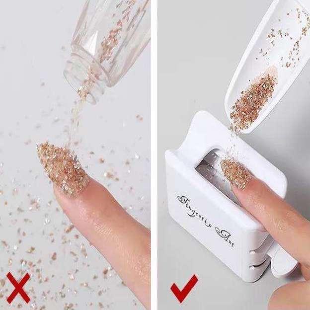 Dispenser coletor de pó glitter