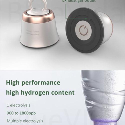 Garrafa De Hidrogênio Portátil Dupon 5000ppb Agua Alcalina
