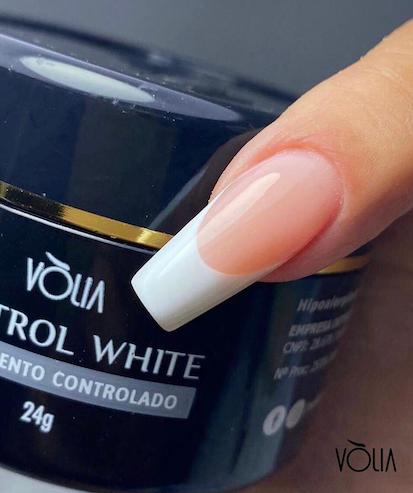 Gel para unhas Control White Volia - 24g