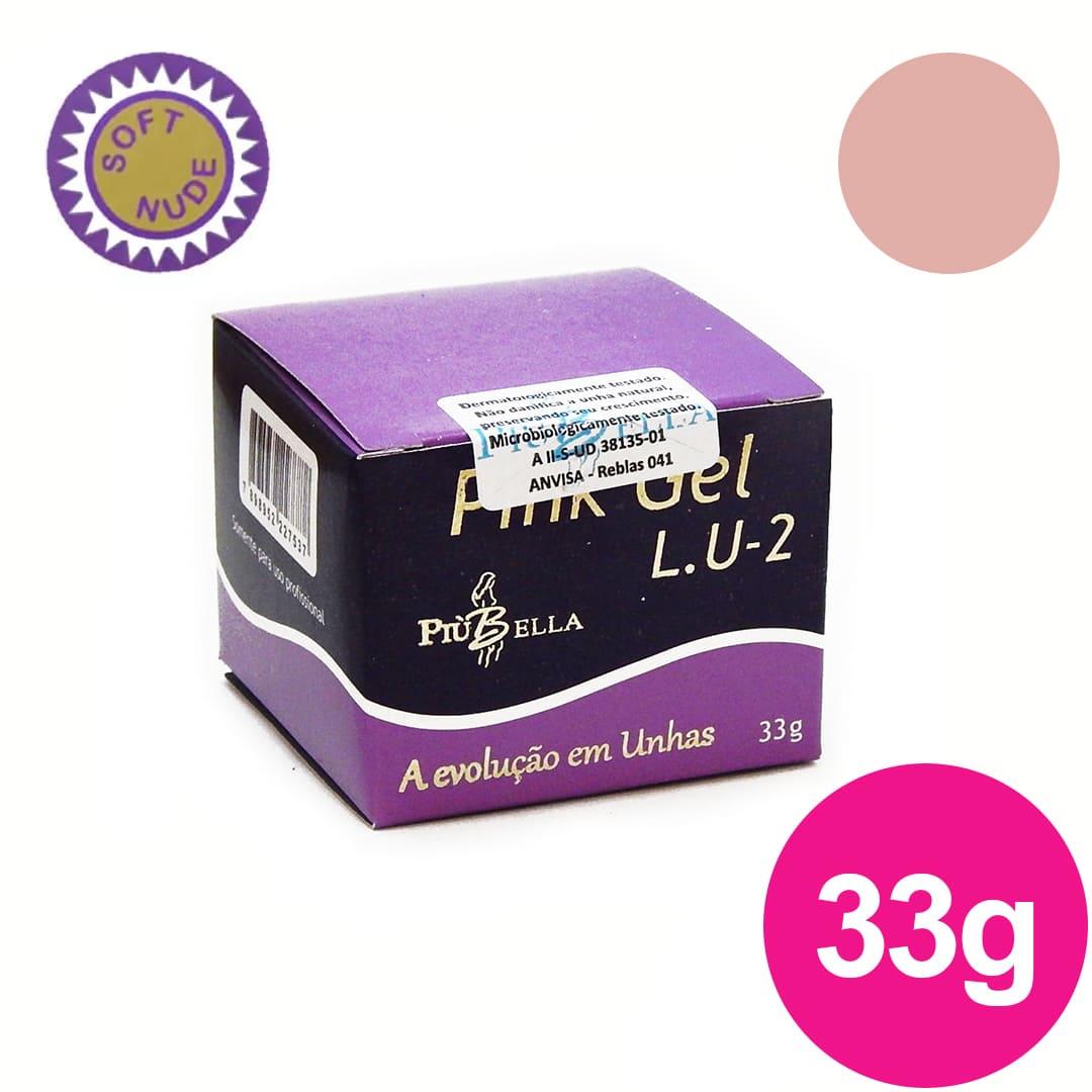 Gel para unhas Lu 2 33g Soft Nude Piu Bella