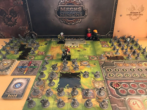 Jogo Boardgame Mech Vs Minions Lacrado Raro Riot Games
