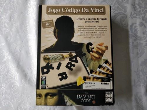 Jogo Código Da Vinci Grow 1980 Novo 100% Completo
