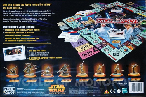 Jogo De Tabuleiro Monopoly Star Wars Saga Edition Metal Box