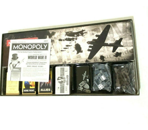 Jogo Monopoly Americas World War 2 Novo Lacrado