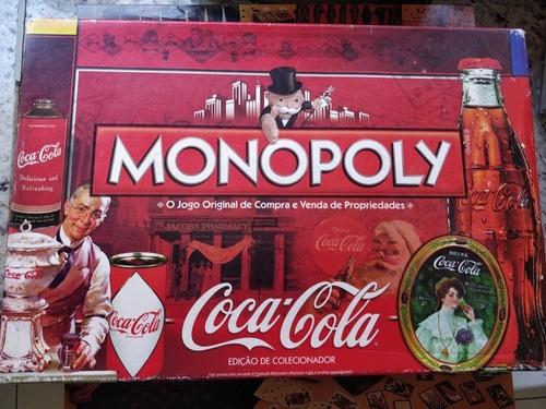 Jogo Monopoly Coca Cola Raro Banco Imobiliário