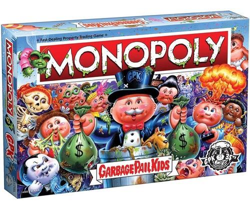 Jogo Monopoly Garbage Pais Kids Gang Do Lixo Collectors