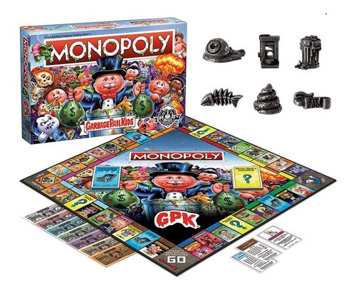 Jogo Monopoly Garbage Pais Kids Gang Do Lixo Collectors