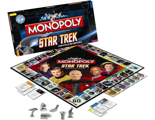 Jogo Monopoly Star Trek Continuum Edition 2009 Raro Novo
