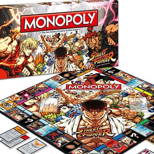 Jogo Monopoly Street Fighter Collectors Edition Lacrado