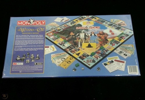 Jogo Monopoly Wizard Of Oz 1998 Collectors Edition Raro