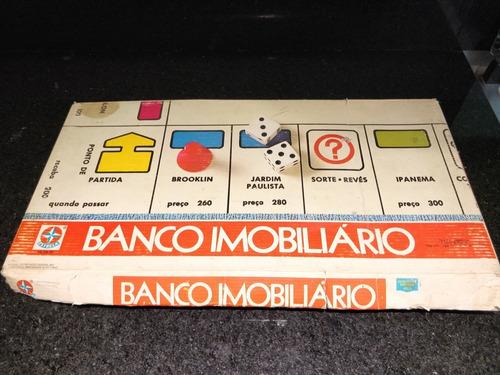 Jogo Tabuleiro Banco Imobiliário Estrela Anos 80 Completo