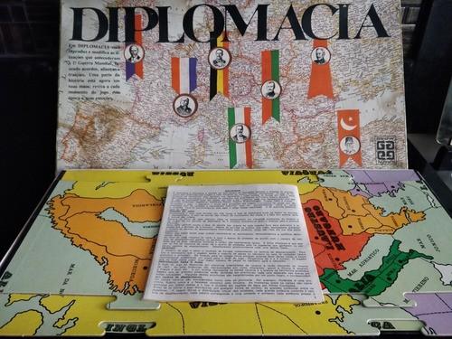 Jogo Tabuleiro Diplomacia Grow 100% Completo Raro Anos 80