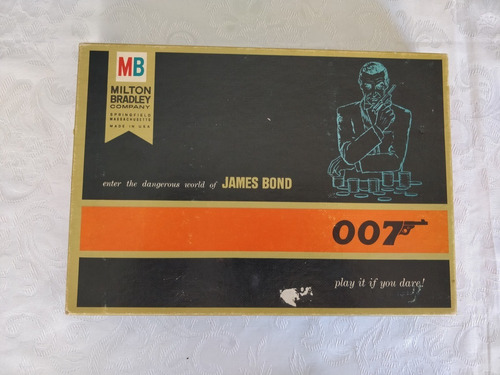 Jogo Tabuleiro James Bond Milton Bradley Raríssimo 1970