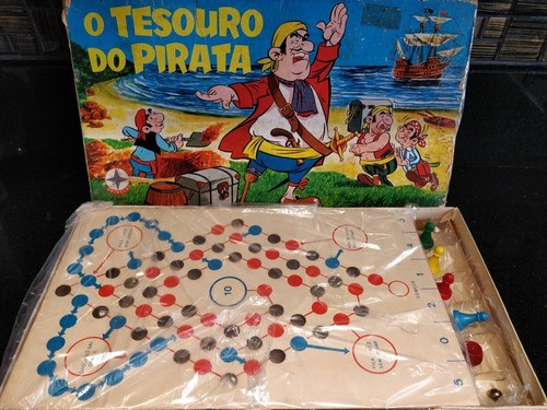 Jogo Tabuleiro O Tesouro Do Pirata Estrela Anos 70 Completo