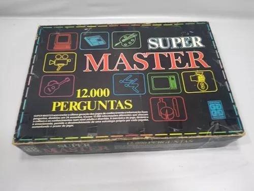 Jogo Tabuleiro Super Master Grow 100% Completo Raro