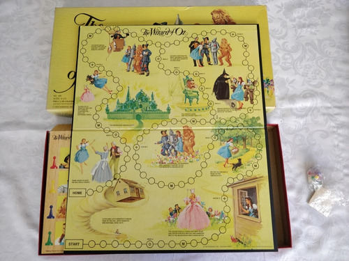 Jogo Tabuleiro Wizard Of Oz 1974 Único Completo Magico De Oz