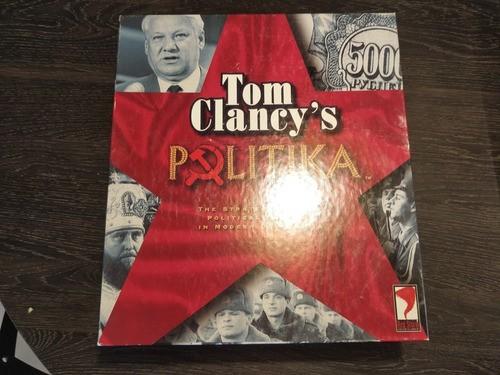 Jogo Tom Clancy's Politika Anos 90 Raro Completo War Risk