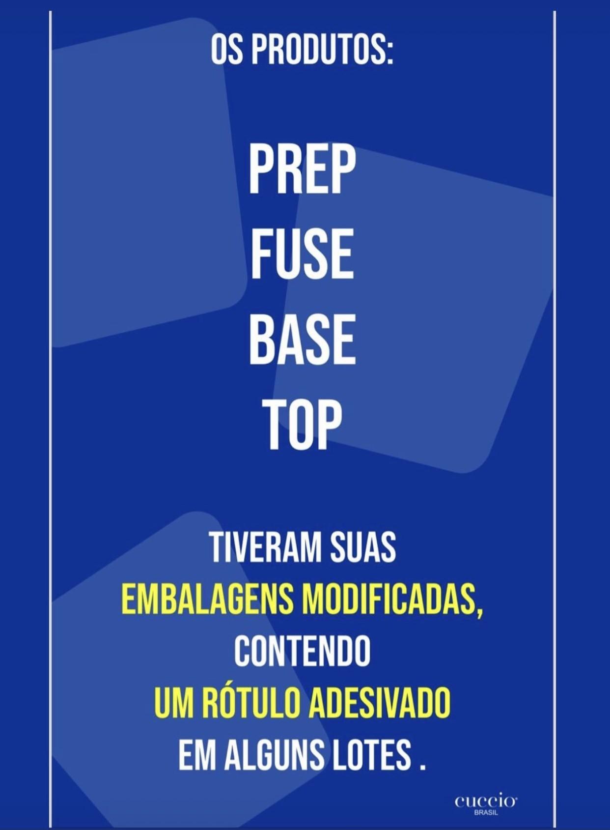 Kit Prep + Fuse + Top Coat - Cuccio 13ml