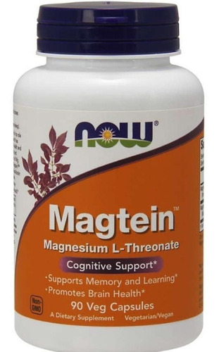 Magtein Magnésio L Treonato 90 Cáps Suporte Cognitivo Now