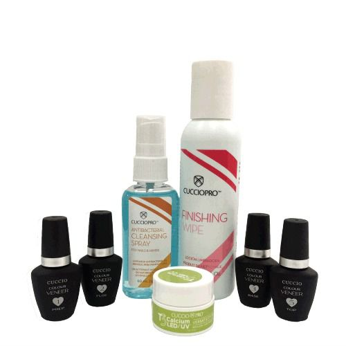 Mini Kit Cuccio Blindagem Diamante + Sany Spray + Calcium + Finishing Wipe