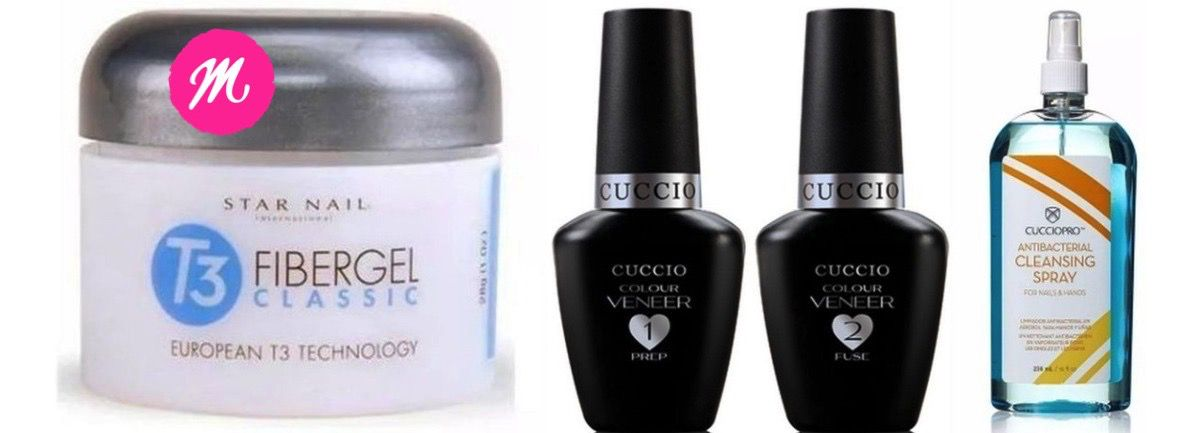 Passo 1 E 2 Fibergel T3 Star Nail Sany Spray 236ml Cuccio