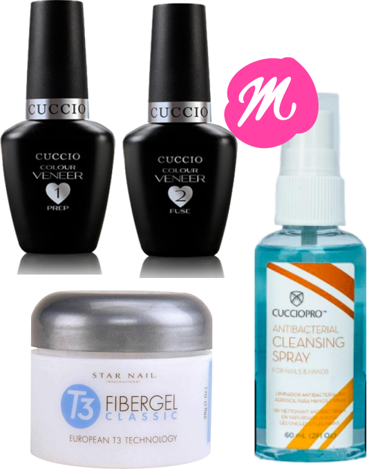 Passo 1 E 2 Fibergel T3 Star Nail Sany Spray 60ml Cuccio