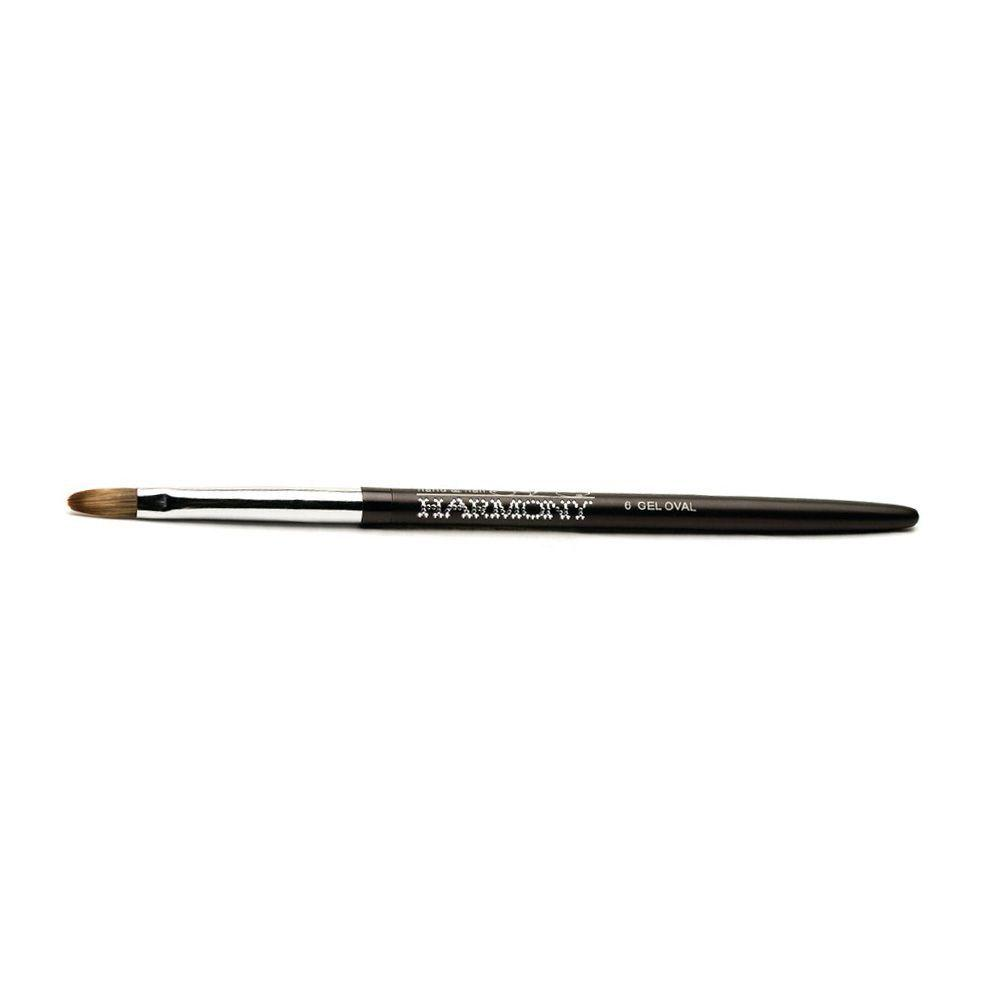 Pincel Harmony Gelish Gel #6 Gel Oval Brush