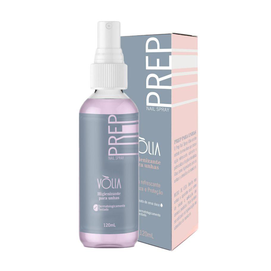 Prep Nail Spray Volia 120ml Anti Bactericida para Unhas