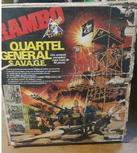 Quartel General Savage Coleção Rambo Anos 80 Caixa Incomplet