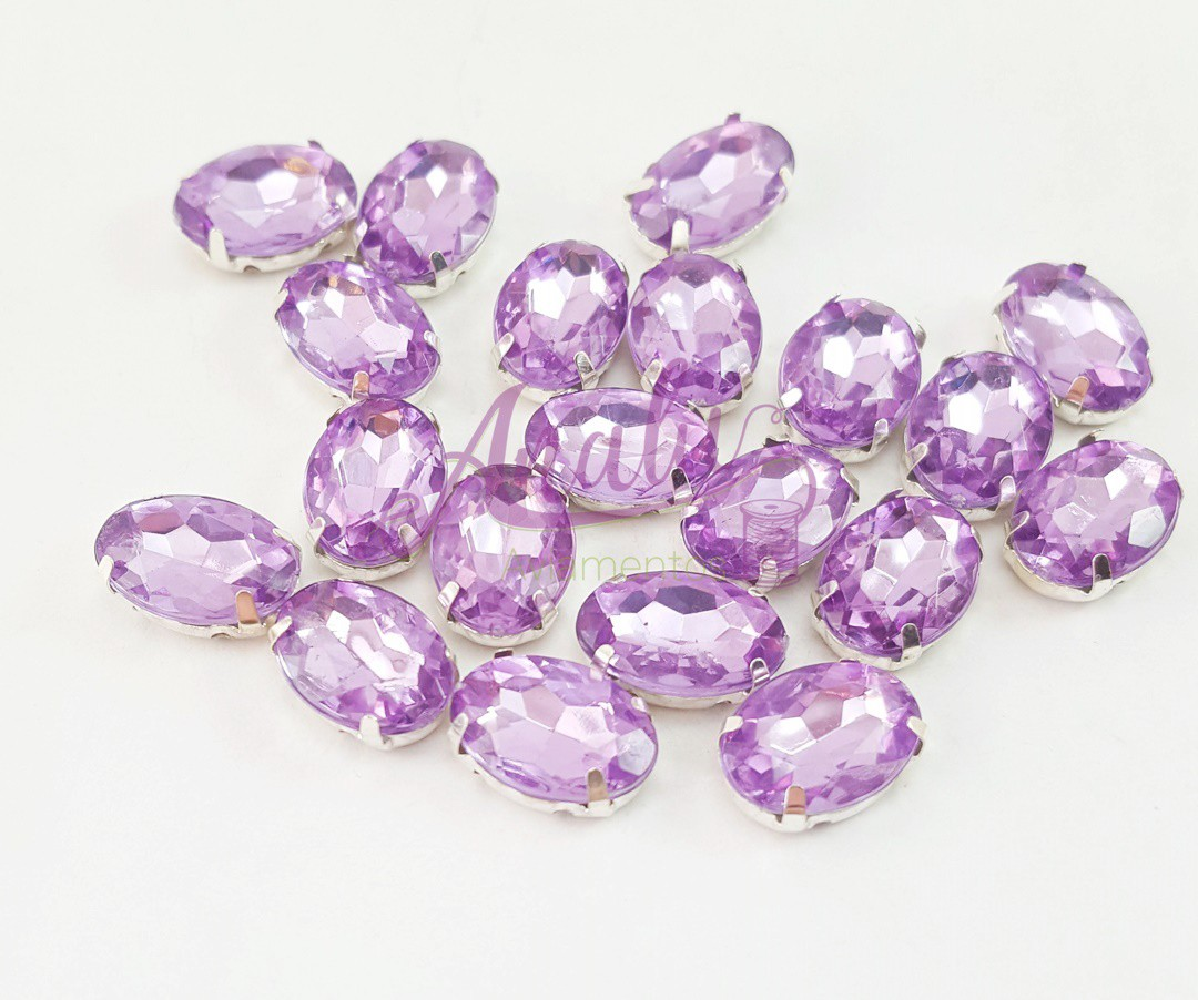 CHATON OVAL ENGRAMPADO - 10x13mm