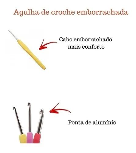Kit Agulhas Croche Soft Cabo Emborrachado 12 Peças 2 -8 Mm