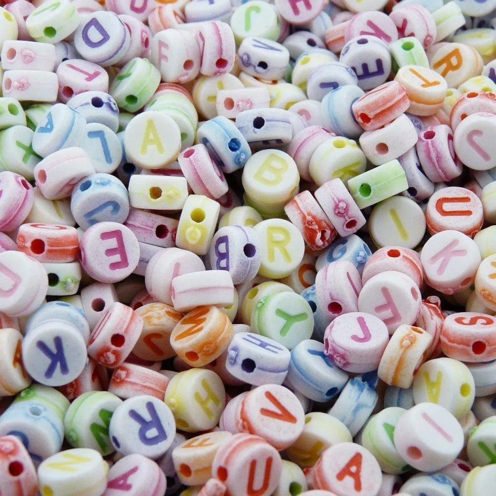 Miçanga Infantil Alfabeto Letras