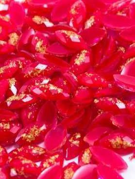 Naveti Resina 4x8 Glitter Dourado
