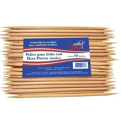 Palito para unhas 2 pontas(bambu) 18cm