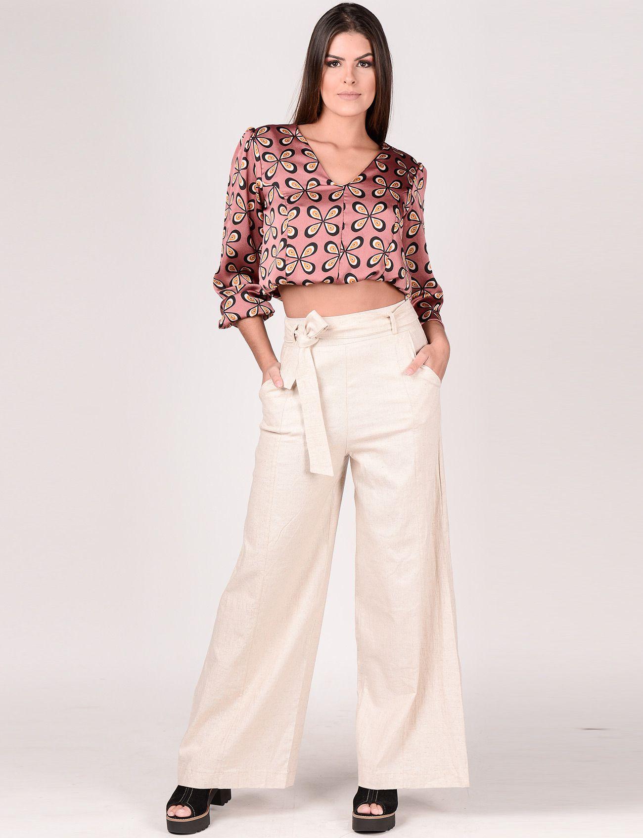 Calça Maxi Pantalona