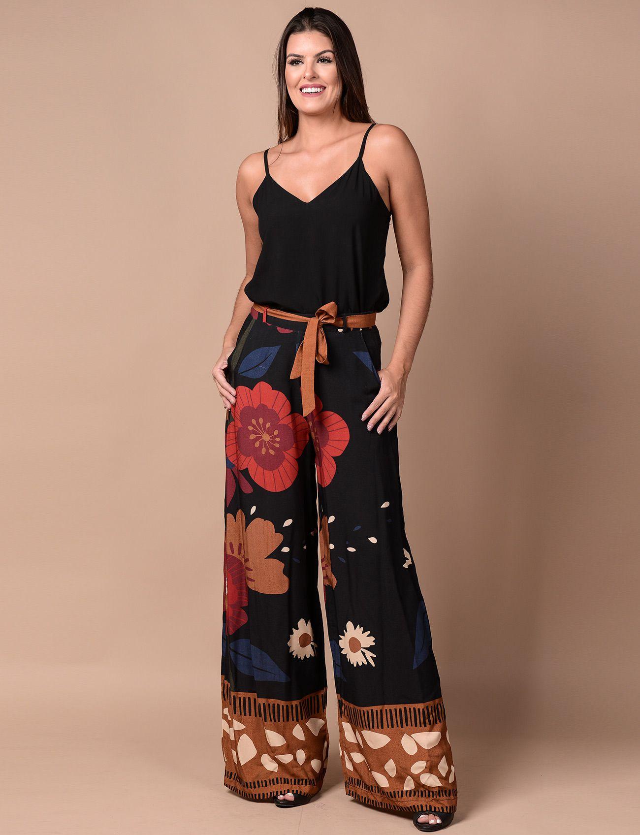 75ed9491ea24 Calça Pantalona Com Faixa - Hipnox | Moda Feminina Carioca Online