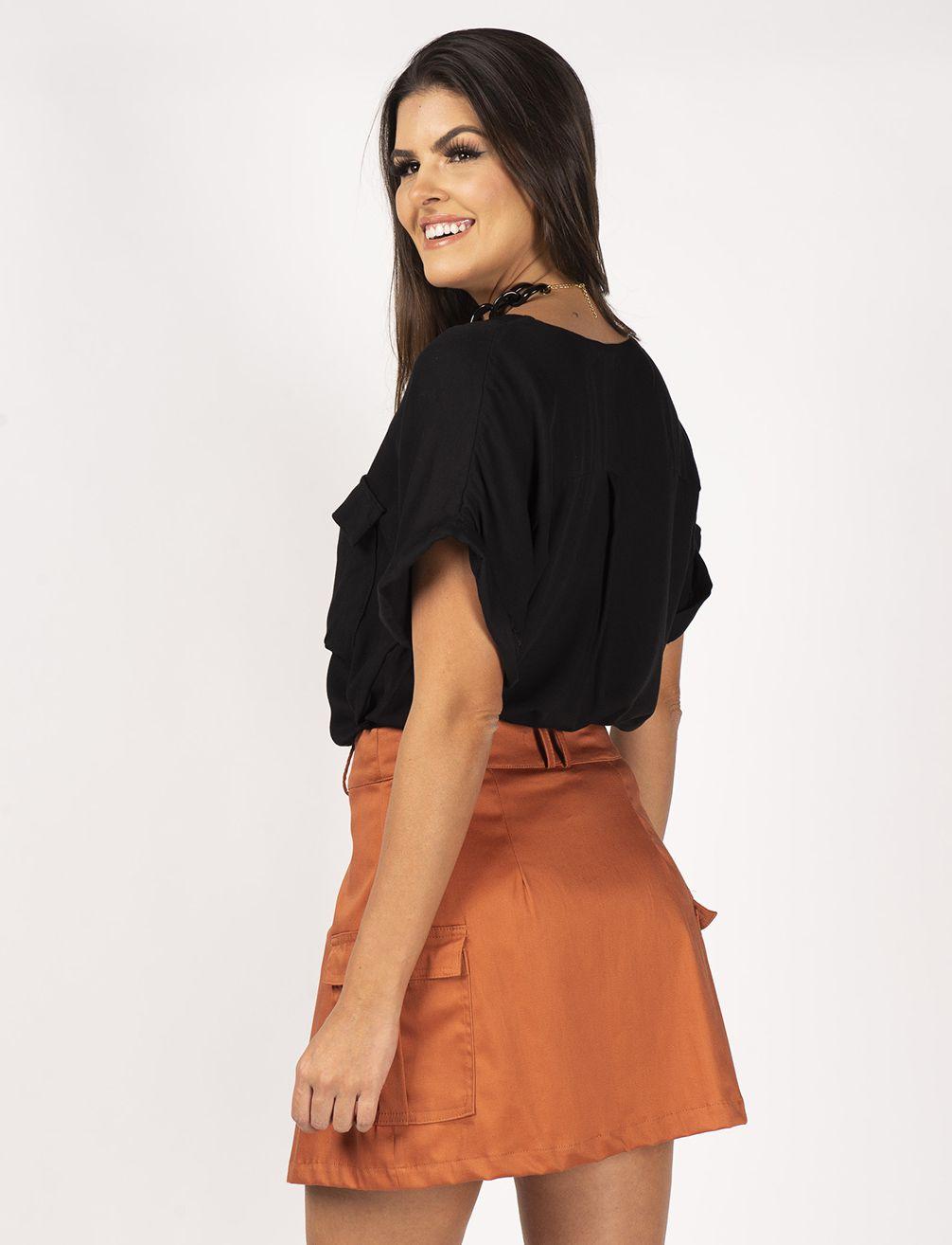 Short saia utilitário