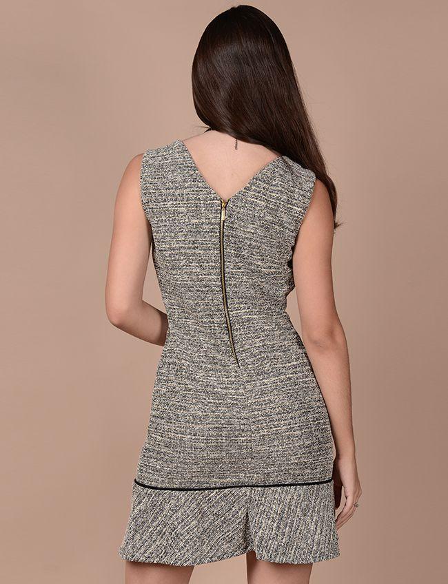Vestido de tweed