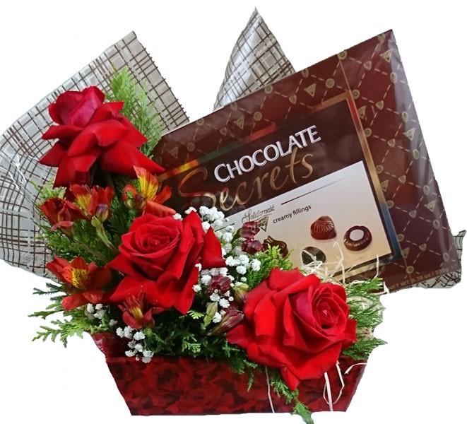 Cesta Colombianas com Chocolate Importado